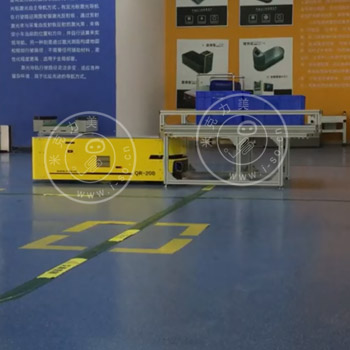 米克力美激光AGV顶升物料架自动配送演示视频