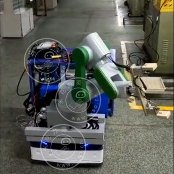 「江苏AGV案例」无轨导航激光AGV加装机械手案例