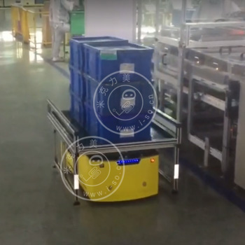 「广州AGV案例」激光顶升AGV 智能搬运物料架
