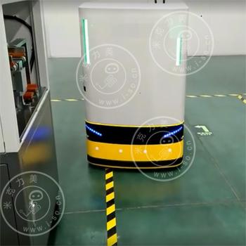 「深圳AGV案例」自动化小车激光AGV搬运电子料