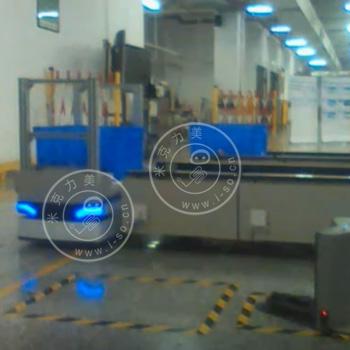 「深圳AGV案例」激光AGV输送带配合生产线视频