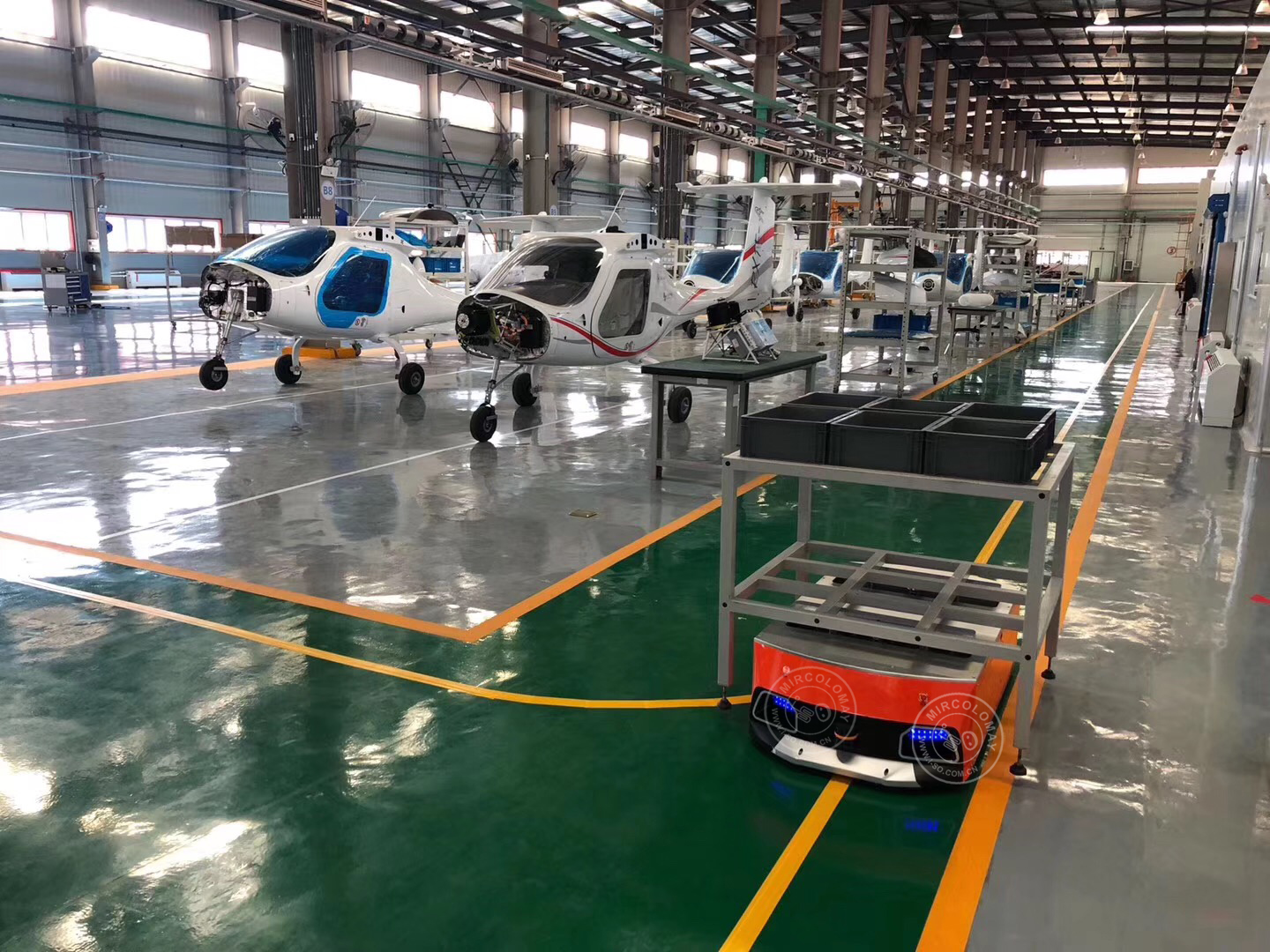 Application of AGV mobile robot in Aircraft factory