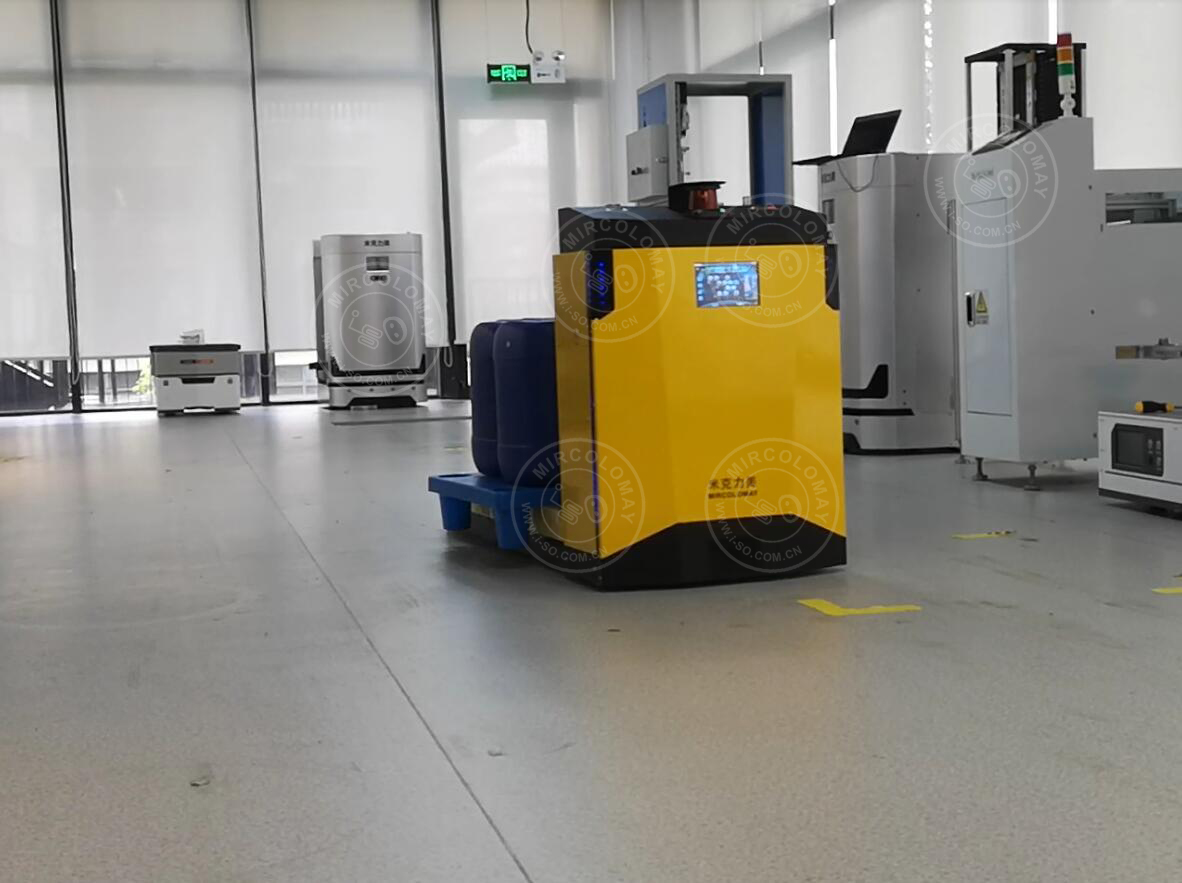 Mircolomay Laser Guided Forklift AGV Video