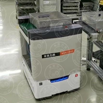 米克力美背负式激光AGV自动装卸应用案例